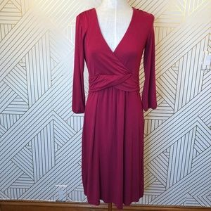 Boden Edie WH529 Jersey Knit Dress in Red